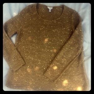 Chico's gold colored sweater